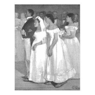 A festa de casamento cartao postal