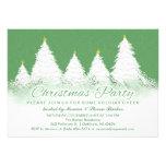 A festa de Natal convida o verde com árvores branc