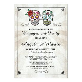 A festa de noivado do Dia das Bruxas do crânio do Convite 12.7 X 17.78cm