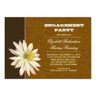 a festa de noivado tipográfica convida convite 12.7 x 17.78cm