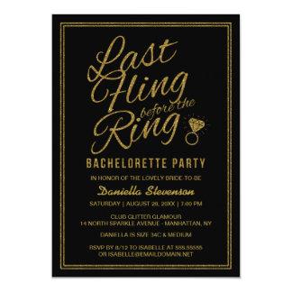 A festa de solteira do Fling do último do olhar do Convite 12.7 X 17.78cm
