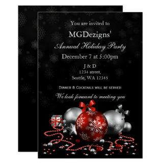 a festa natalícia incorporada festiva preta convite 12.7 x 17.78cm