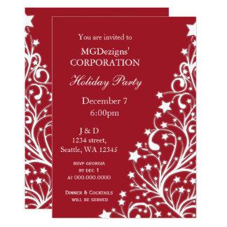 a festa natalícia incorporada festiva vermelha convite 12.7 x 17.78cm