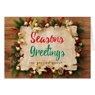 A festão incorporada do negócio tempera o cartão