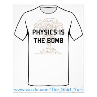 A física é a bomba nuclear flyer 11.43 x 14.22cm