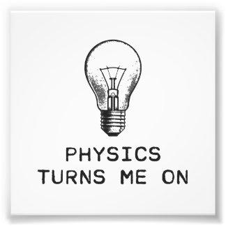 A física gira-me sobre impressão de foto