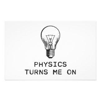 A física gira-me sobre papelaria