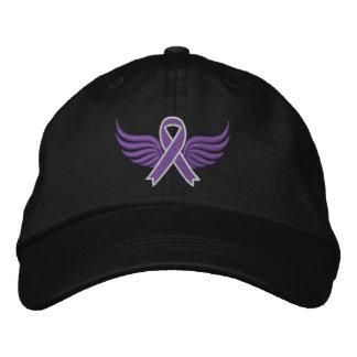 A fita do câncer de pâncreas voa v2 boné bordado
