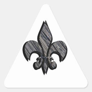 A flor de lis personaliza-o adesivo triangular