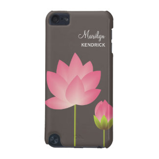 A flor de lótus brancos cor-de-rosa floresce costu