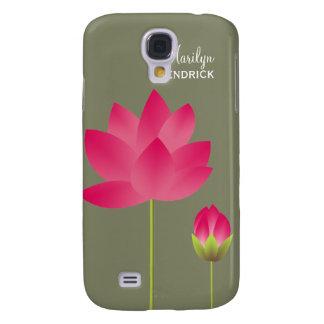 A flor de lótus cor-de-rosa vermelha floresce cost