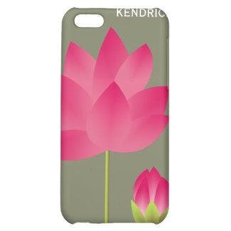 A flor de lótus cor-de-rosa vermelha floresce cost capas para iphone 5C