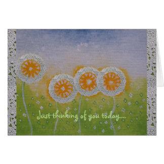 A flor desvanece-se pensando de você cartão