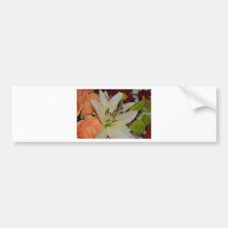 A flor lunática branca floresce destino do amor da adesivo para carro