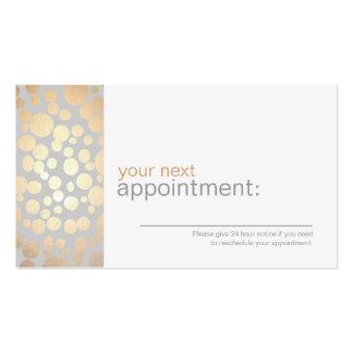 Cartão de Agendamento.