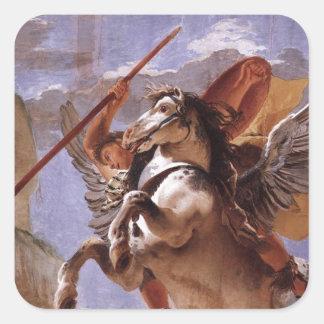 A força da eloquência, do Bellerophon e do Pegasus Adesivo Quadrado