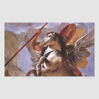 A força da eloquência, do Bellerophon e do Pegasus Adesivo Retangular