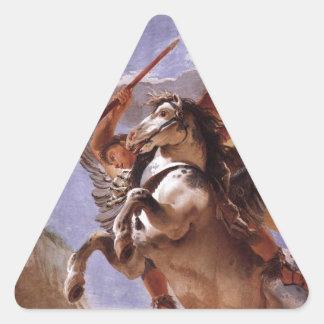 A força da eloquência, do Bellerophon e do Pegasus Adesivo Triangular