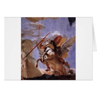 A força da eloquência, do Bellerophon e do Pegasus Cartão Comemorativo