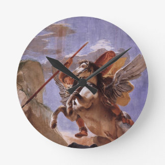 A força da eloquência, do Bellerophon e do Pegasus Relógio De Parede