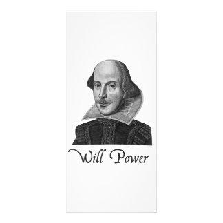 A força de vontade de William Shakespeare 10.16 X 22.86cm Panfleto