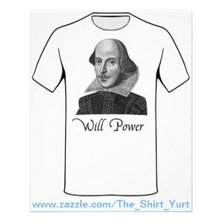 A força de vontade de William Shakespeare Flyer 11.43 X 14.22cm