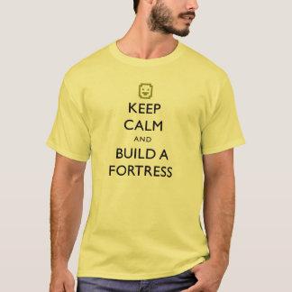 A fortaleza do anão mantem a calma e constrói um tshirt