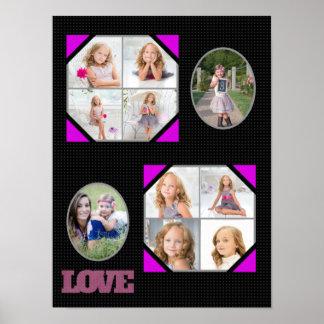 A foto preta cor-de-rosa do amor substitui a poster