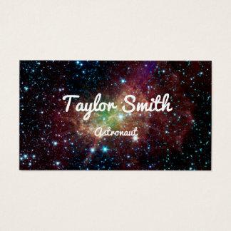 a galáxia do espaço stars o cartão de visita