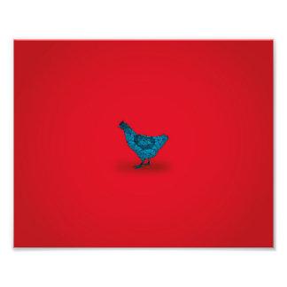 A galinha veio primeiramente… impressão de foto