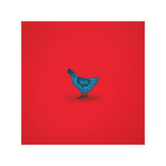 A galinha veio primeiramente… impressão em tela