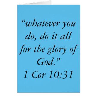 """""""A glória cartão da escritura do deus"""""""