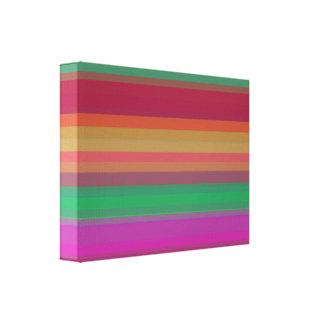 A gradação listra horizontal impressão de canvas esticadas