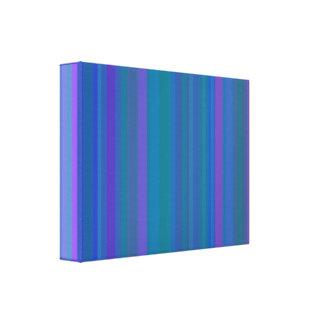A gradação listra o azul impressão de canvas envolvida