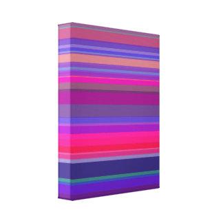 A gradação listra o azul cor-de-rosa roxo impressão em tela canvas
