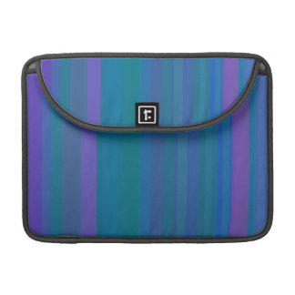 A gradação listra o roxo do verde azul bolsas para MacBook