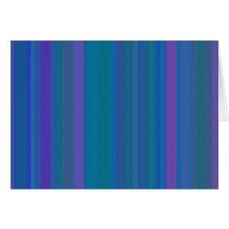 A gradação listra o roxo do verde azul cartão comemorativo