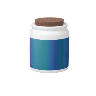 A gradação listra o roxo do verde azul jarro de doce