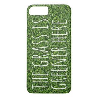 A grama é mais verde aqui capa iPhone 7 plus