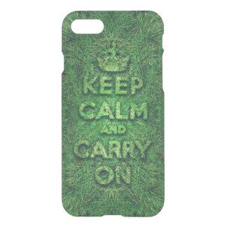 A grama verde mantem a calma e continua capa iPhone 7