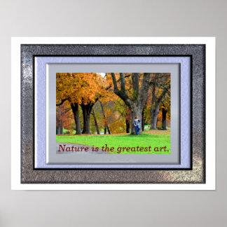 A grande arte da natureza - impressão da arte