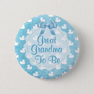 A grande avó a ser patinhos de borracha azuis bóton redondo 5.08cm