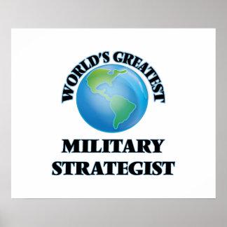 A grande estratega militar do mundo pôsteres