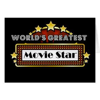 A grande estrela de cinema do mundo cartão comemorativo