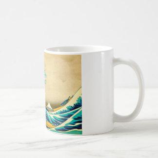 A grande onda caneca de café