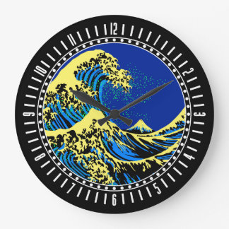 A grande onda de Hokusai no seletor do estilo do Relógios Para Paredes