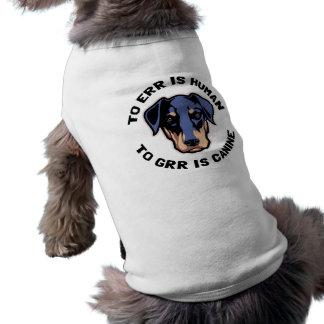A Grr é canino Camisa Sem Mangas Para Cachorro