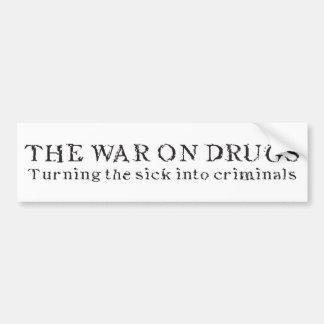 A guerra em drogas - transformando o doente em cri adesivo para carro