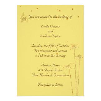 A guloseima floresce o convite da festa de noivado