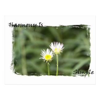 A harmonia é simples cartão postal
